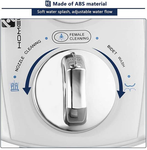 HOMELODY Bidet Toilet Non-Electric Self-cleaning Dual Nozzle (Posterior/Feminine Wash) - Homelody