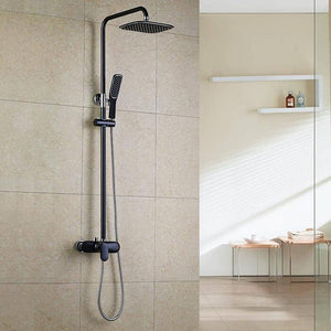 Homelody Black Bath Mixer Shower System with Rain Shower Set - Homelody