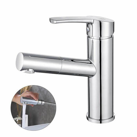 Homelody Brass Chrome-plated single handle Removable Lavatory Washbasin Faucet for Bathroom - Homelody