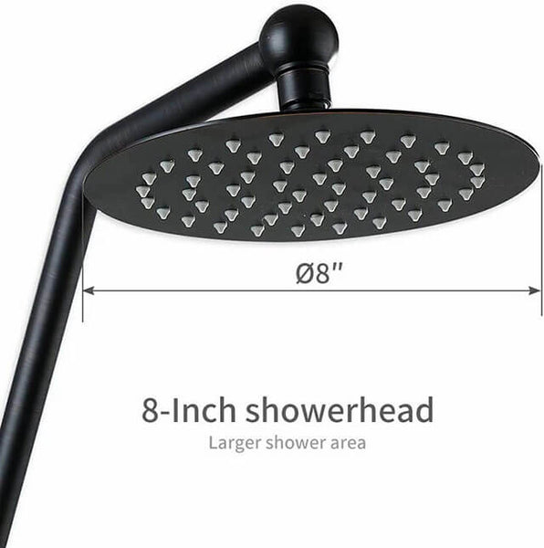 HOMELODY Bronze Shower Set, Adjustable Slide Bar and Brass Dish, Oil Rubbed Bronze - Homelody