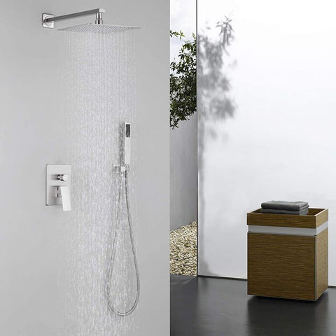 HOMELODY Brushed Nickel Shower System Wall Mounted - Homelody
