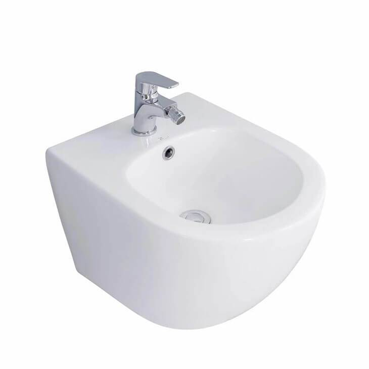 HOMELODY Ceramic Bathroom Bidet Suspended Toilet Seat Wall Hung Bidet Bowl For Toilet - Homelody