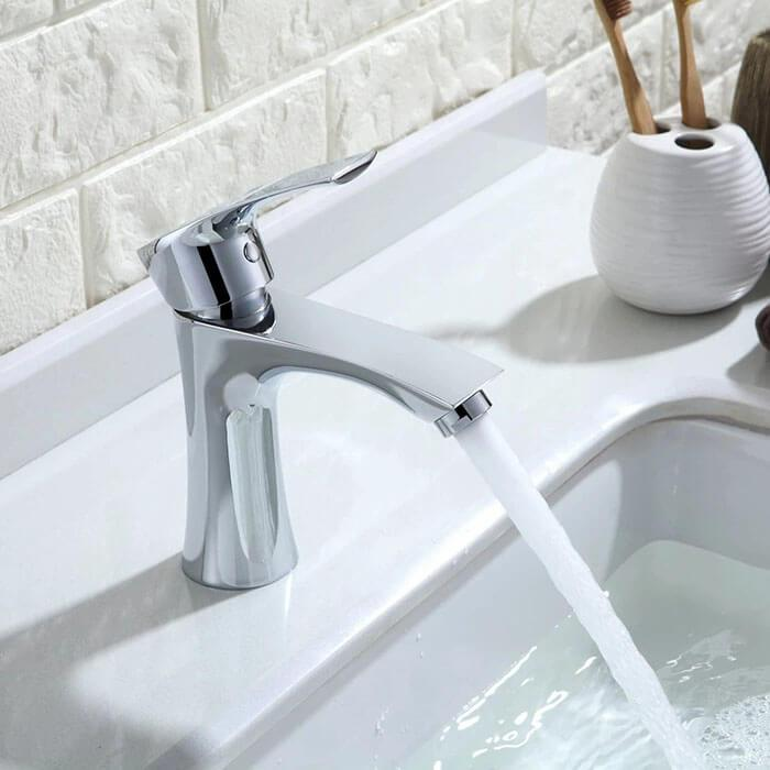 Homelody Chrome bathroom faucet pull-up single handle for modern bathrooms - Homelody