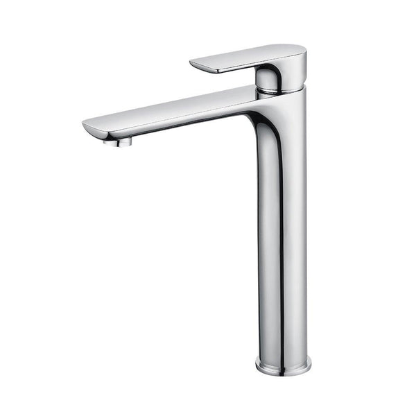 Homelody Chrome Plated high Basin Faucet Brass pull up mixer - Homelody