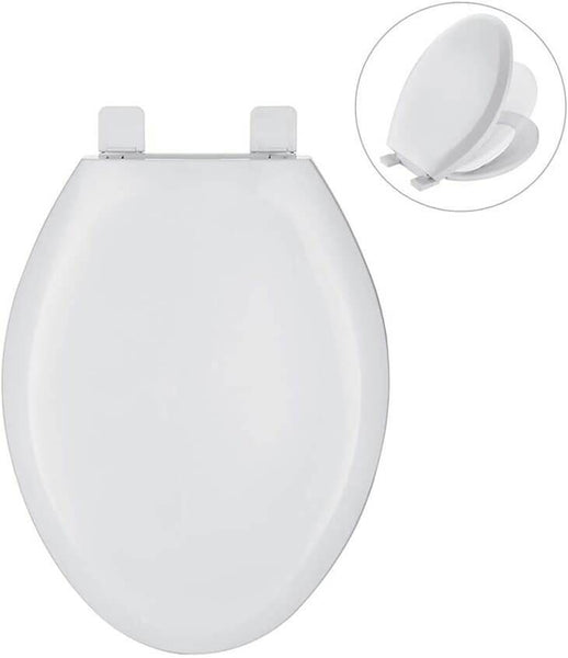 HOMELODY Elongated White Toilet Seat - Homelody