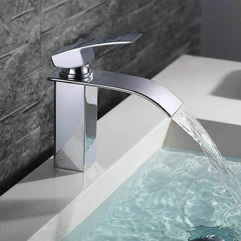 Homelody high end Single-lever waterfall Basin Faucet for Bathroom - Homelody