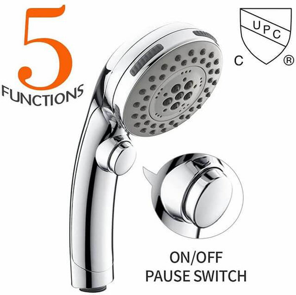 HOMELODY High Pressure Handheld Shower Head with ON/OFF Pause Switch - Homelody