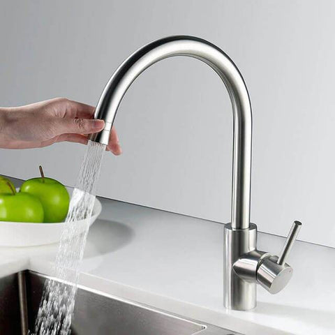 Homelody Kitchen Faucet Stainless Steel Sink Tap High arc style 360° Rotating - Homelody