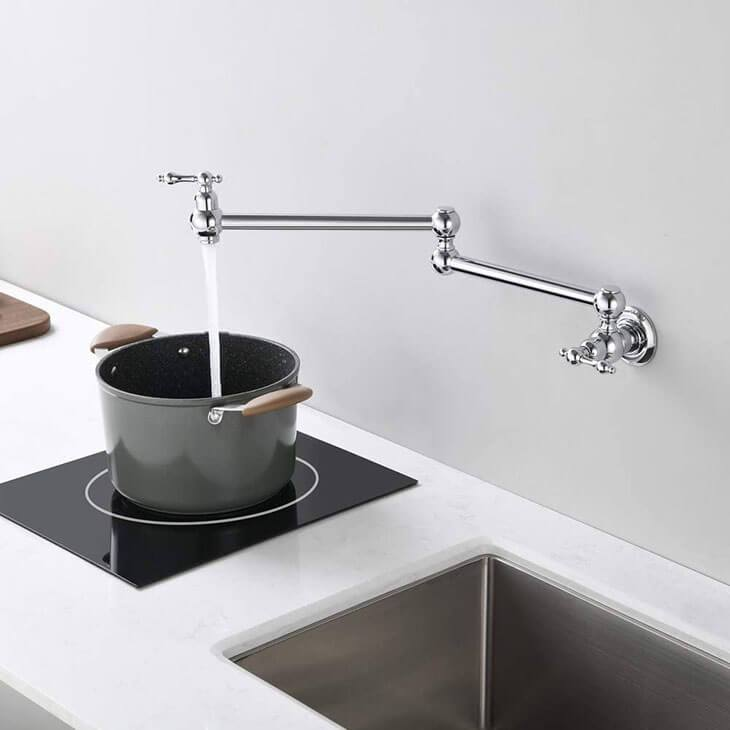 HOMELODY Kitchen Pot Filler Folding Faucet - Homelody