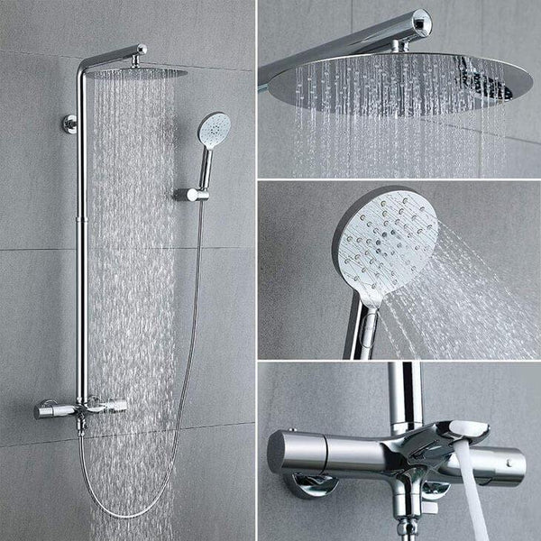 Luxury Bathroom Thermostat Shower Set