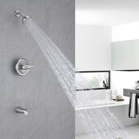 HOMELODY Pressure Balancing Shower System (Valve Included), Brushed Nickel - Homelody