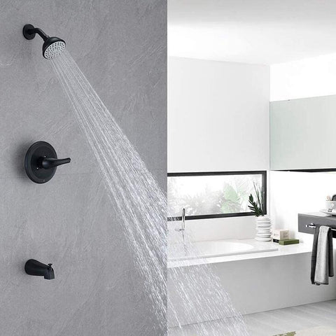 HOMELODY Pressure Balancing Shower System(Valve Included), Matte Black - Homelody