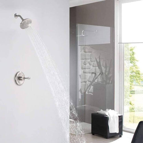 HOMELODY Pressure Balancing Shower Trim Kit (Valve Included), Brushed Nickel - Homelody