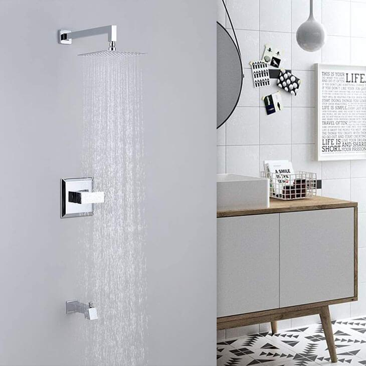 HOMELODY Shower Faucet Chrome(Valve Included) Tub and Shower Trim Kit - Homelody