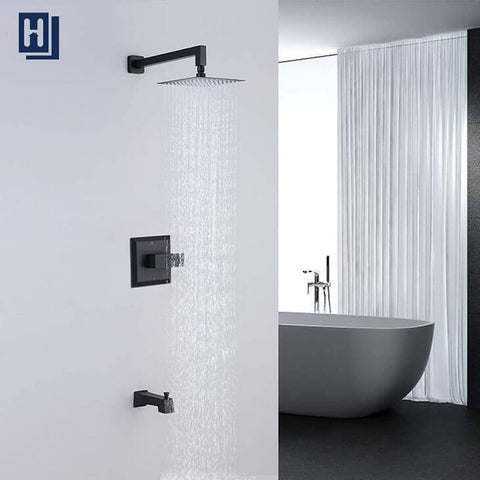 HOMELODY Shower Faucet Shower Valve Trim Kit Tub and Shower Faucet Set, Matte Black - Homelody