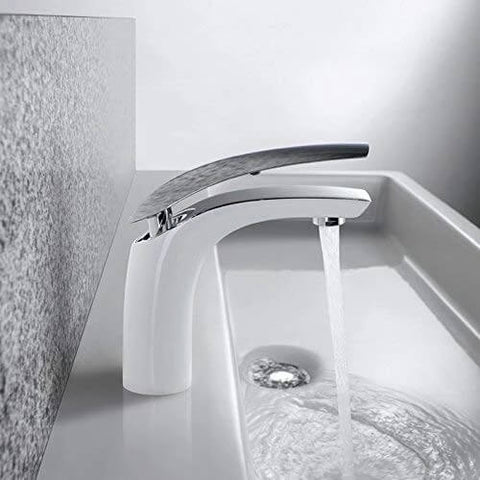 Homelody White brass Mixer Bathroom Faucet modern style - Homelody