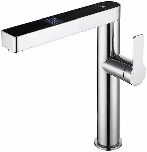 kitchen sink tap with LCD temperature display