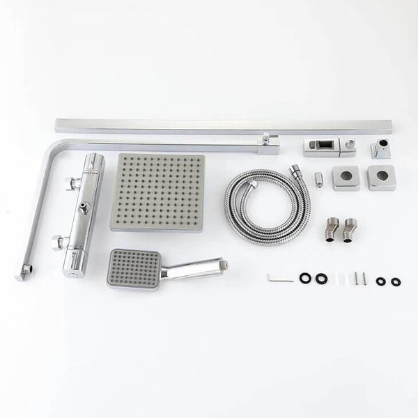 Modern bathroom shower system square shower thermostatic shower set - Homelody