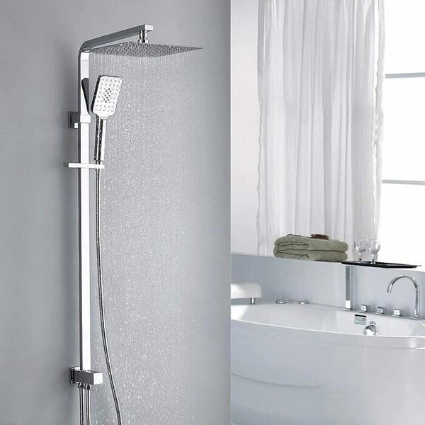 modern brass shower mixer rain shower homelody mode switching control constant temperature - Homelody