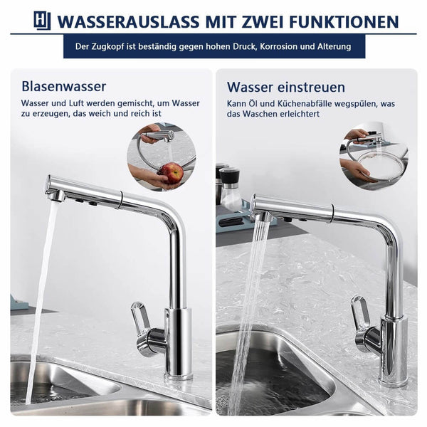pull-out brass sink mixer