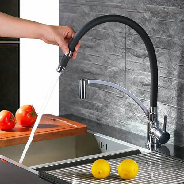 Removable Black Kitchen Faucet Silicone Grade 360 ° high quality brass faucet Homelody - Homelody