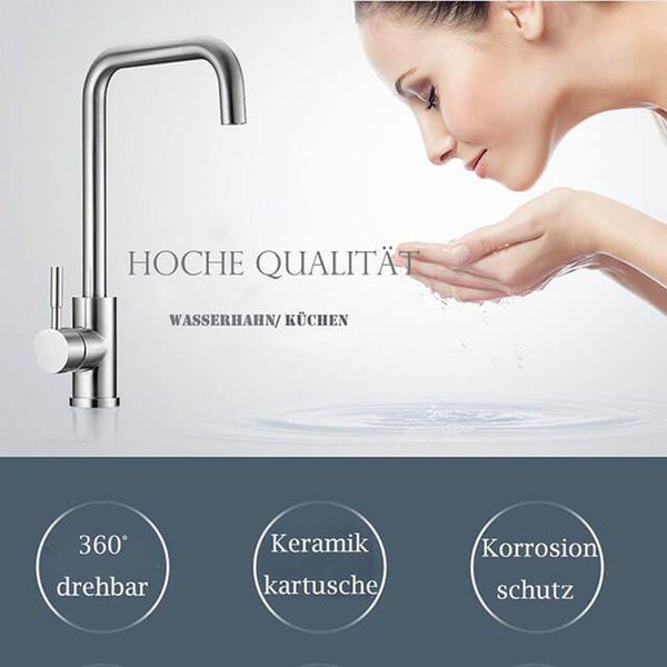 Stainless steel single handle kitchen faucet Homelody 360 ° Swivel sink Mixer - Homelody