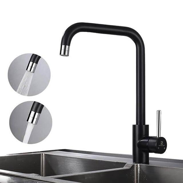Swivel Black Kitchen Mixer 360 ° Kitchen Faucet HOMELODY - Homelody