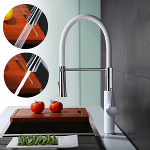 White Kitchen Faucet with Single Handle Sink Mixer Homelody - Homelody