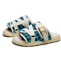 Blue Plaid BirkenSlides
