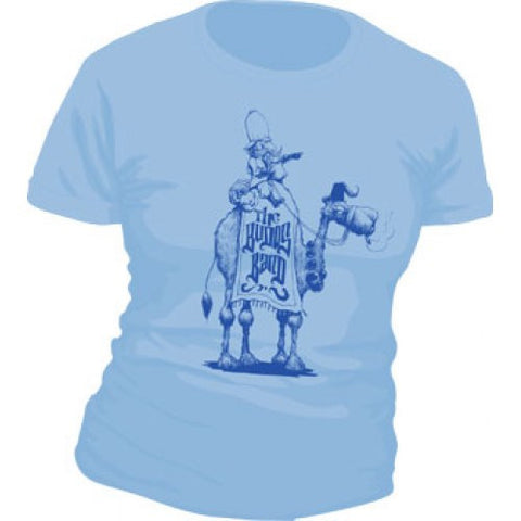 Women's Budos Band Baby Blue Camel Tee - daptonerecords