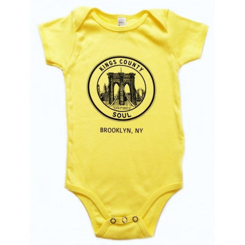 Kings County Soul Yellow Onesie