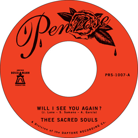 "Thee Sacred Souls ""Will I See You Again"" 45"