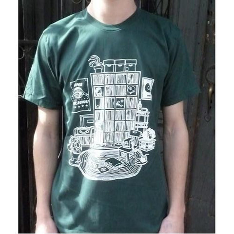 Record Collection T-shirt (Forest Green) - ON SALE - daptonerecords - 1