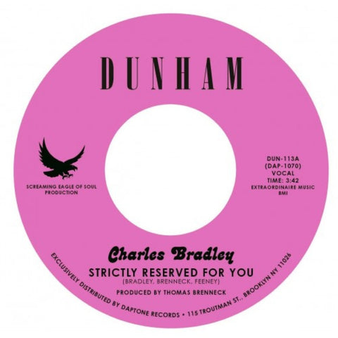 "Charles Bradley - ""Strictly Reserved For You / Let Love Stand A Chance"""