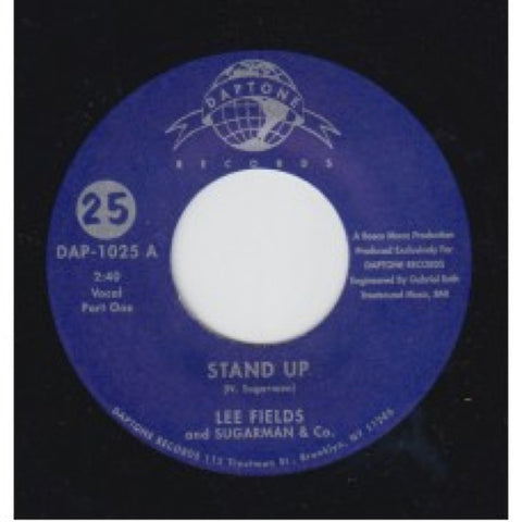 "Lee Fields & Sugarman & Co. - ""Stand Up / Stand Up Pt. 2"" *BACK IN STOCK!!!!!"