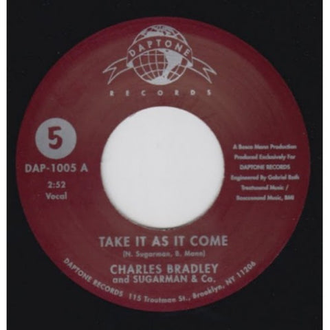 "Charles Bradley and Sugarman & Co. - ""Take It As It Come Pt. 1 & 2"""