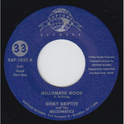 "Binky Griptite & the Mellomatics - ""Mellowmatic Mood Pt. I & II"""