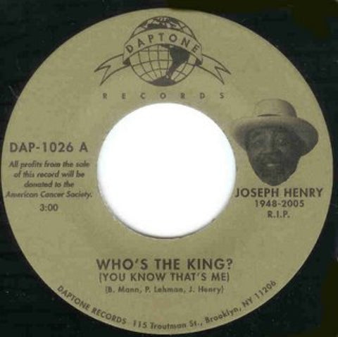 "Joseph Henry - ""Who's The King (You Know That's Me)/I Feel Right"""