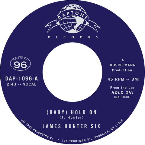 "The James Hunter Six ""(Baby) Hold On"" / ""Carina"""