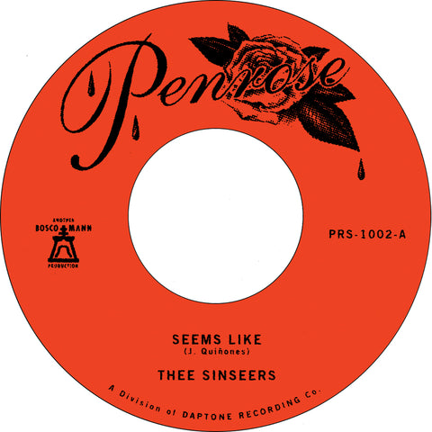 "Thee Sinseers ""Seems Like"" 45"