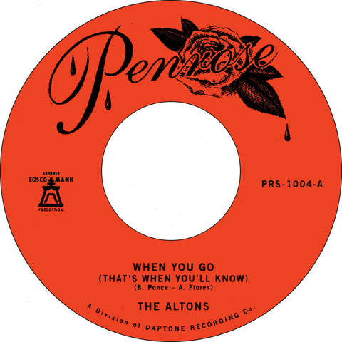 "PRE-ORDER:The Altons ""When You Go (That's When You'll Know)"" 45"