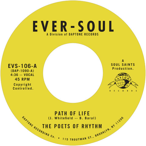 "The Poets of Rhythm ""Path of Life b/w Smilin' (While You're Crying)"""