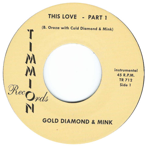 "Gold Diamond & Mink ""This Love (Instrumental) Part 1 & 2"""