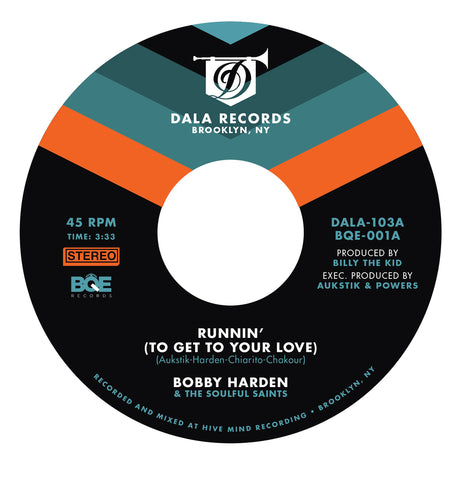 Bobby Harden - Runnin' (To Get to Your Love)  /  Mono Version