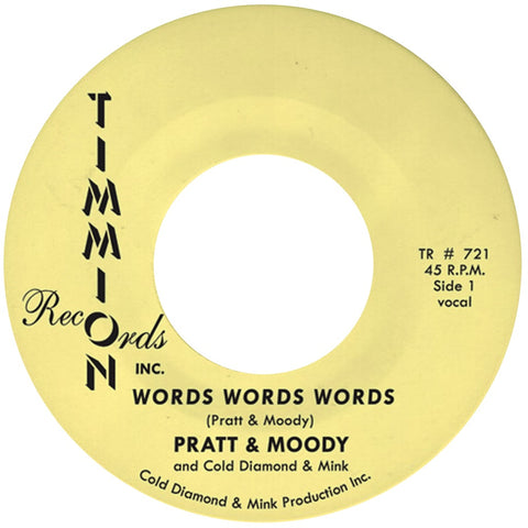 Pratt & Moody - Words Words Words b/w Instrumental