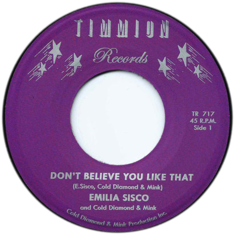 Emilia Sisco and Cold Diamond & Mink - Don't Believe You Like That / Instrumental
