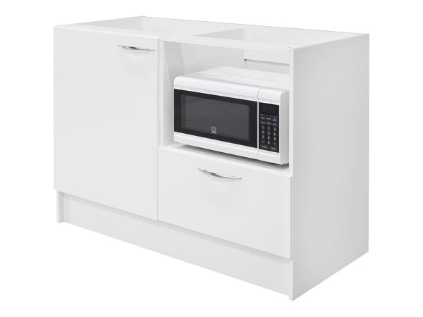 1 Door, 1 Drawer Microwave Kitchenette