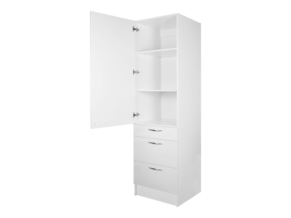 1 Door, 3 Drawer Tall Cabinet