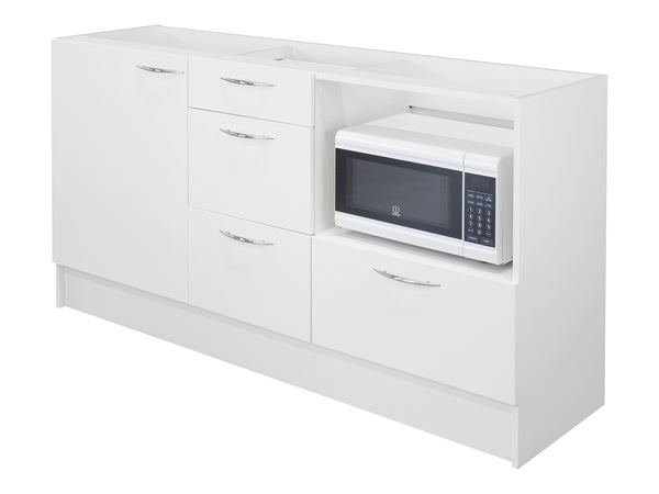1 Door, 4 Drawer Microwave Kitchenette