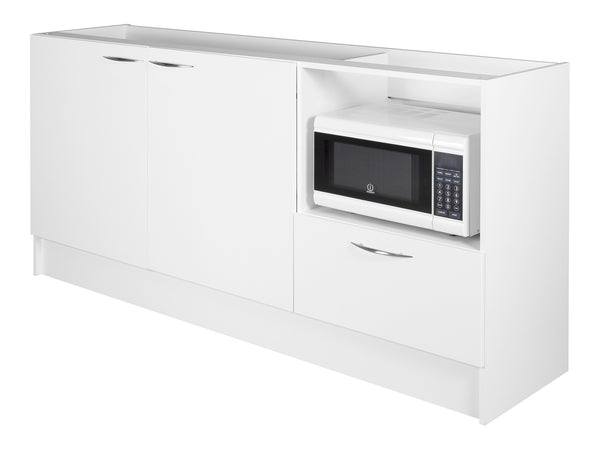 2 Door, 1 Drawer Microwave Kitchenette